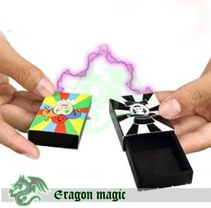 Match box Moving -Eragon Kids Magic Tricks magia magie toys retail and wholesale(China (Mainland))