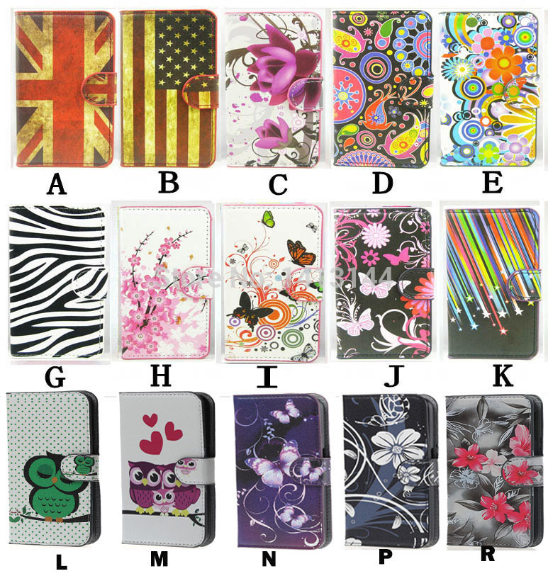 For Samsung Galaxy Xcover 2 S7710 Cases Flip Zebra lovely Whit Butterfly Flower UK US Luxury Leather Phone Case Cover Xcover2(China (Mainland))