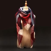 Buy Za Winter Scarf 2017 Tartan Plaid Cashmere Scarf Pashmina New Designer Blanket Scarf Luxury Brand Women's Scarves Wraps for $5.47 in AliExpress store