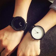 PU leather Brand Watches fashion design unisex Men and Women Quartz Analog Wrist Watch Relojes Relogio Feminino Free Shipping