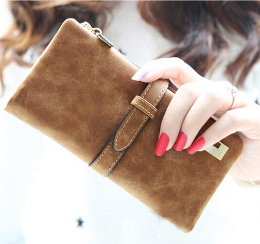 2015 Women Wallets new winter fashion trends pumping frosted multi-card pu leather two fold wallet lady Ms. Long purse card(China (Mainland))