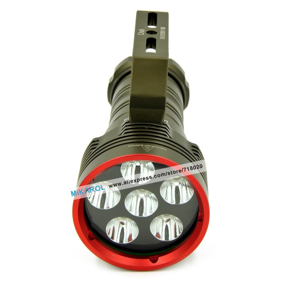 Super Bright 8000 Lumen Rechargeable LED Flashlight Cree XM-L2 LED Scuba Dive Lantern Lamp Flash Light Torch(China (Mainland))