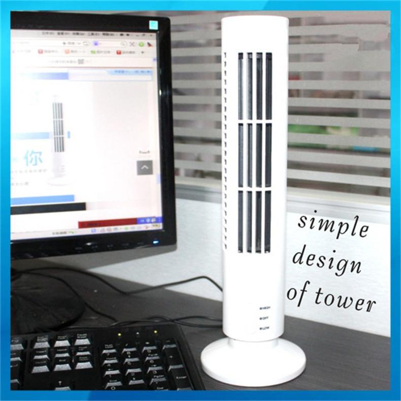 El nuevo no hoja del usb mini ventilador de la torre ultra for Torre aire acondicionado