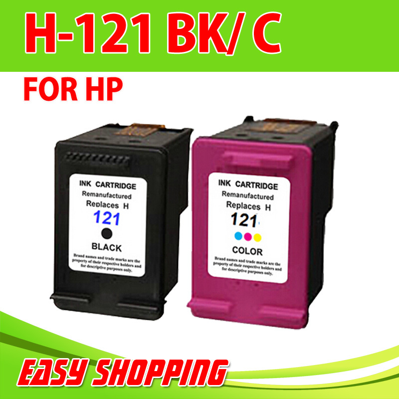 Гаджет  2PK for HP Ink  ,Remam Ink Cartridge for HP 121 CC640HE with full ink with chip for HP DesjetF2560, F2568, F4280, 4288 None Офисные и Школьные принадлежности