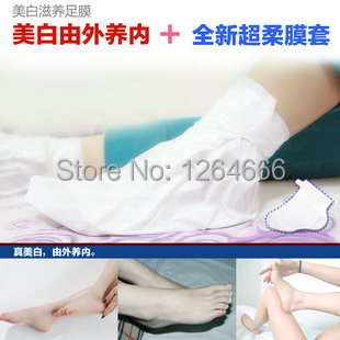 2015 New Exfoliating Foot mask Spa Sock Health Care Baby Feet Peeling Whitening Wake Up New Skin As Seen As on TV(China (Mainland))