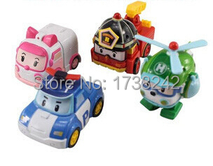 4pcs/lot kids toys robot festival gifts deformation helicopter fire truck police boys and girls toy(China (Mainland))