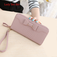 Buy Hot Sale Women Lady Long Wallets Purse Female Candy Color Bow PU Leather Carteira Feminina Coin Card Clutch Bag for $9.29 in AliExpress store