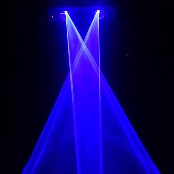Купить Aobo освещения 300 МВт двойной головы одного синего мини-дискотека лазерного света лазерный луч света для DJ диско ну вечеринку KTV свадьбы на день рождения