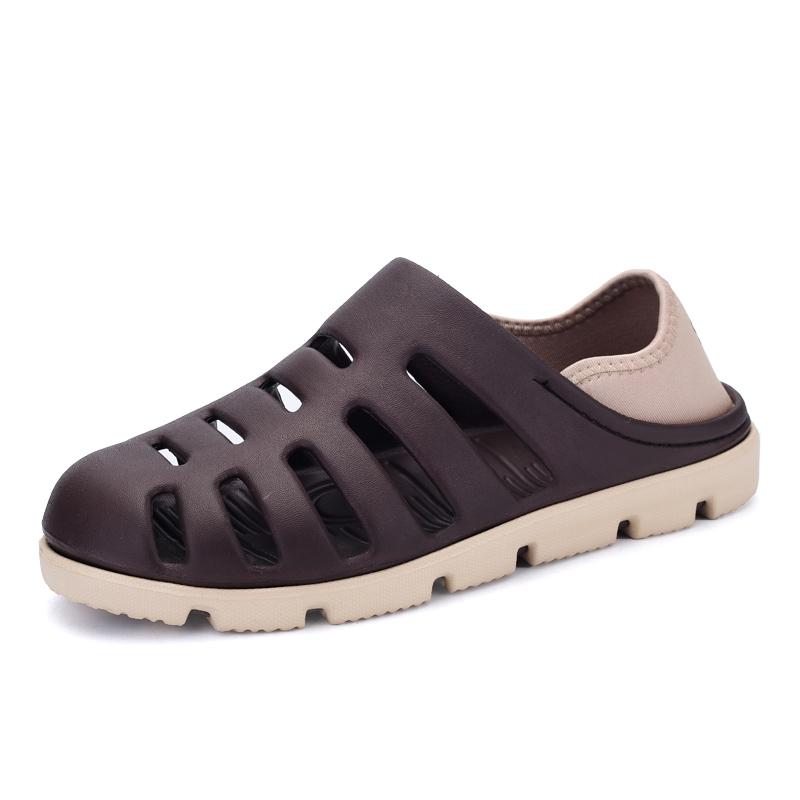 2016 Casual Men's Summer Shoes Men'S Beach Garden Shoes Croc Clog Sandal Flip Flops Shoes 4 Color,sandals Home Croc Sandals Mens(China (Mainland))
