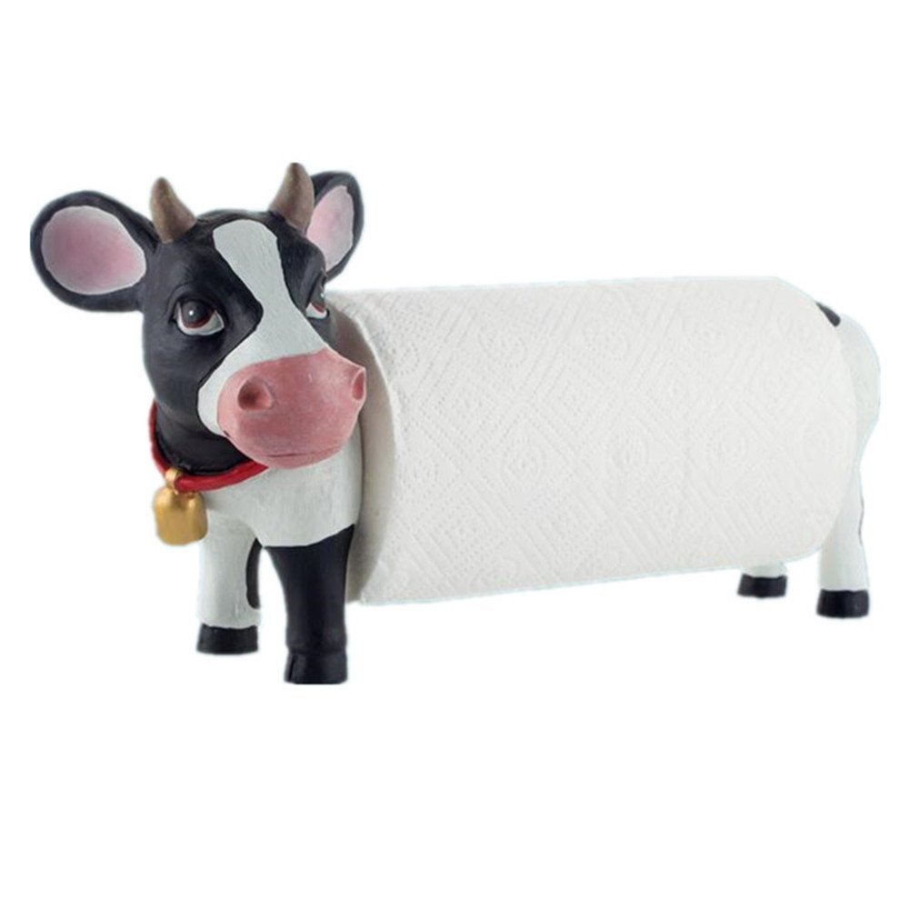 Popular cow paper towel holder buy cheap cow paper towel Creative toilet paper holder