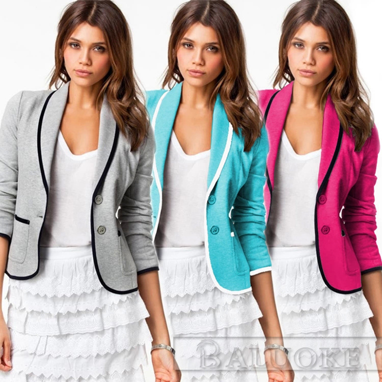 Casual Grey Blazer Womens 2015 Casual Blazer Women's