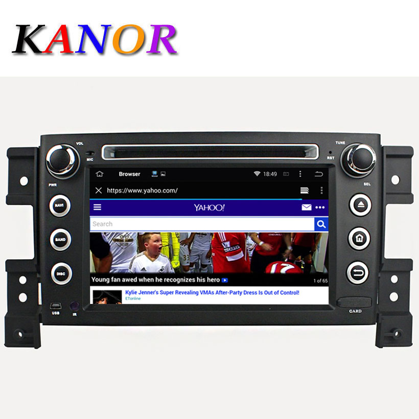 2 din 1024*600 quad core andriod car dvd gps for suzuki grand vitara 2005-2011 capacitive automotivo audio with radio wifi usb<br><br>Aliexpress