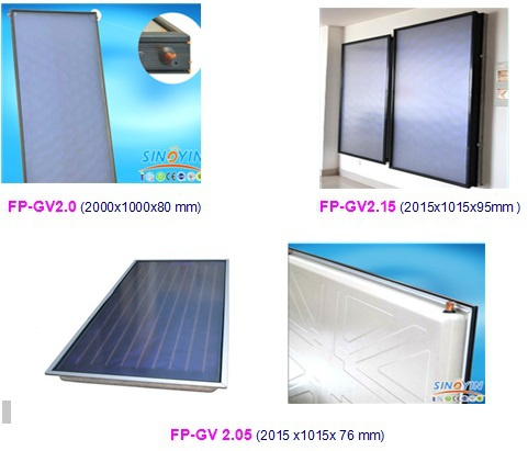 Split flat plate solar water heater collector with SRCC Solar Keymark CE CCC(China (Mainland))