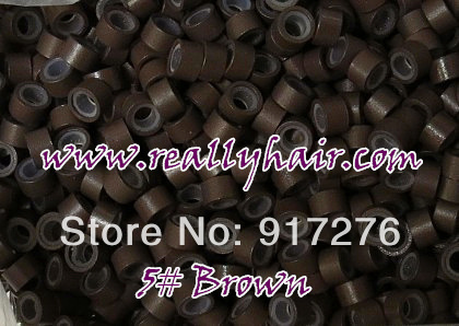 1000pcs bottle silicon lined Micro Links Rings Beads font b Hair b font Feather font b