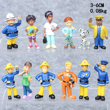Buy 12Pcs/Lot BDCOLE Fireman Sam Anime Action Figures Toys Cute Cartoon PVC Dolls Kids Children's day Gift for $7.26 in AliExpress store