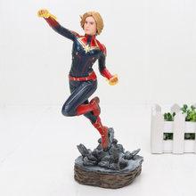 Endgame 22-27cmThe Vingadores ironman spiderman Capitão Carol Danvers Estátua KO's Estúdios de Ferro Ação PVC Figuras Toy Dolls(China)