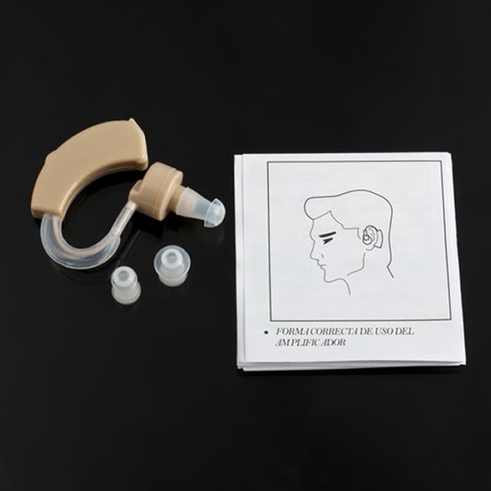 Hot Selling Tone Hearing Aids Aid Behind The Ear Sound Amplifier Sound Adjustable Kit(China (Mainland))