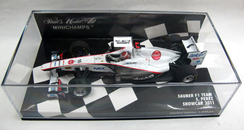 MINICHAMPS mini package deal electronic mail 1:43 lower alloy mannequin automobile Sauber F1