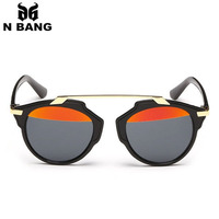 brand 2015 sunglasses women & men Half-frame glasses three kinds choices black leopard and white frame fashion  free shipping