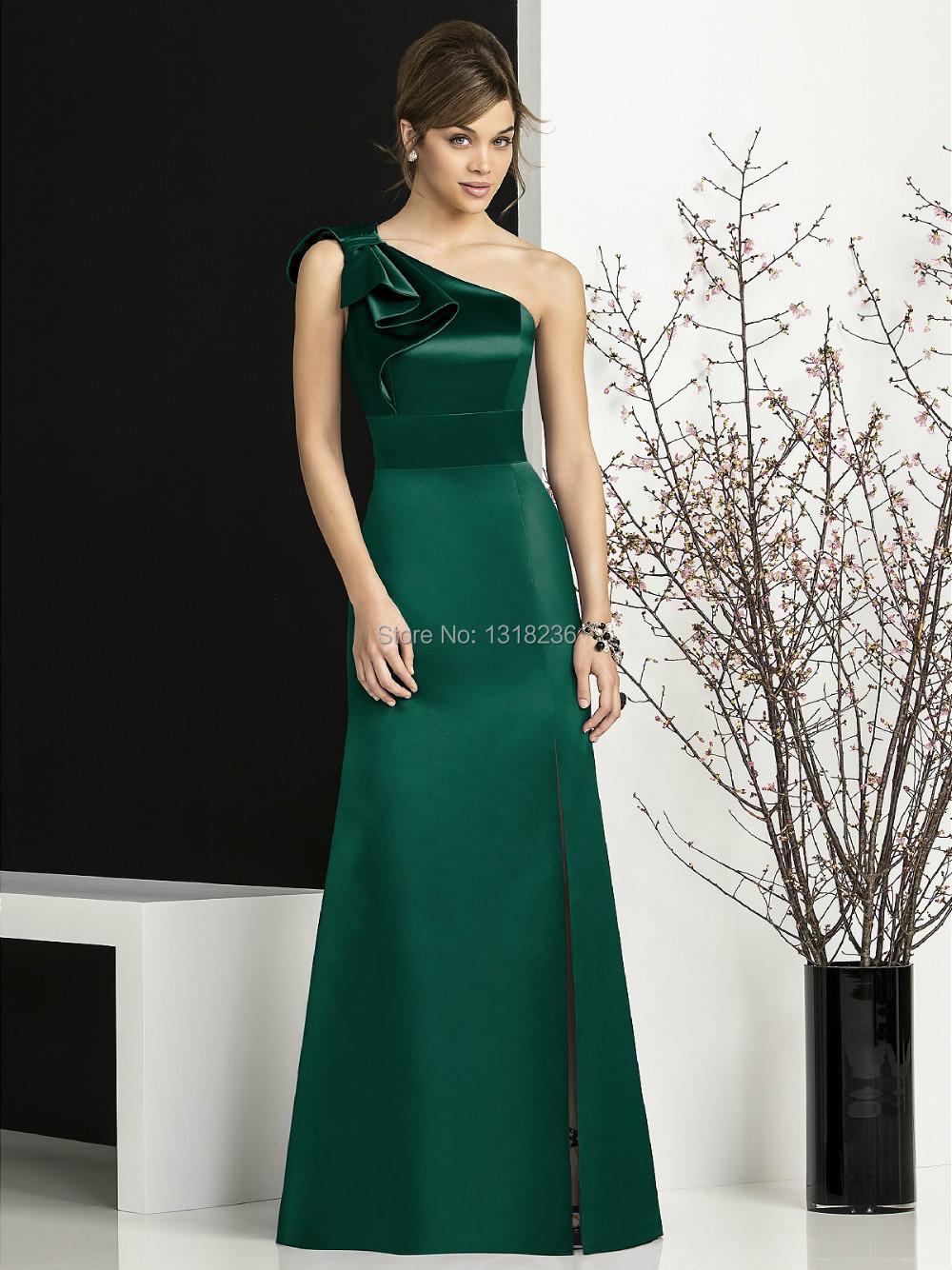 Vestidos de fiesta color verde olivo