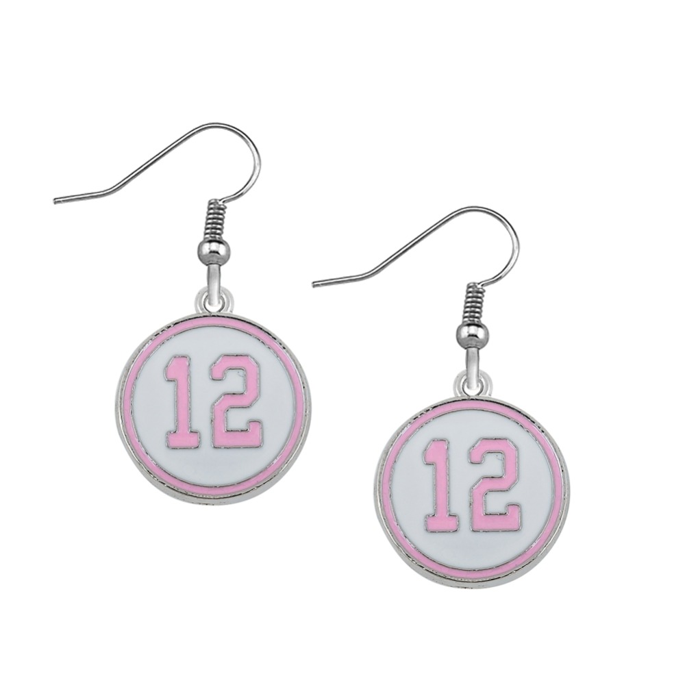 Seattle Seahawks the 12th man pink enamel number 12 earrings(China (Mainland))