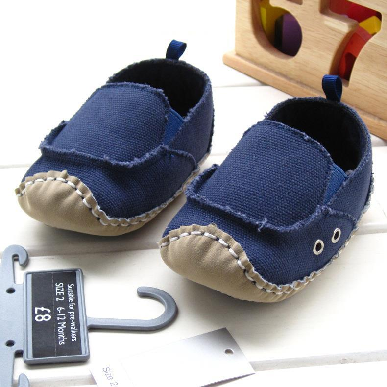 2016 Dark blue Denim Baby Boys Shoes Air Hole First Walkers Comfortable Infant Prewalker Toddler Cotton Solid Color Baby Shoes(China (Mainland))