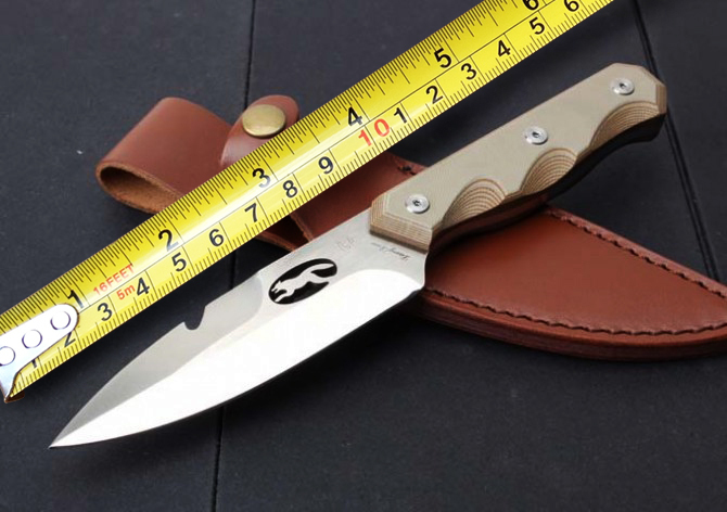 Top Quality D2 Blade G10 Handle Tactical Knife,Camping Hunting Knives,Outdoor Tool,Leather Sheath(China (Mainland))