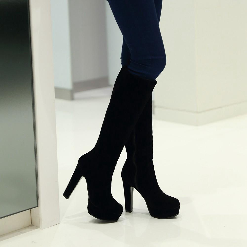 High Heel Platform Boots - Is Heel