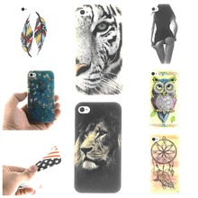 For Apple iphone 4 4s Case Owl tiger Lion sexy lady Painting Ultra thin TPU IMD Silicone Mobile Phone Covers