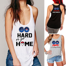 New 2016 Ladies Funny Pokemon Go Pokemon T-shirt Loose Vest