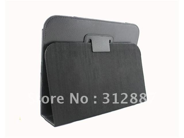 Free shipping ! New Black Leather Cover Case Stand For HP TouchPad Touch Pad Tablet PC