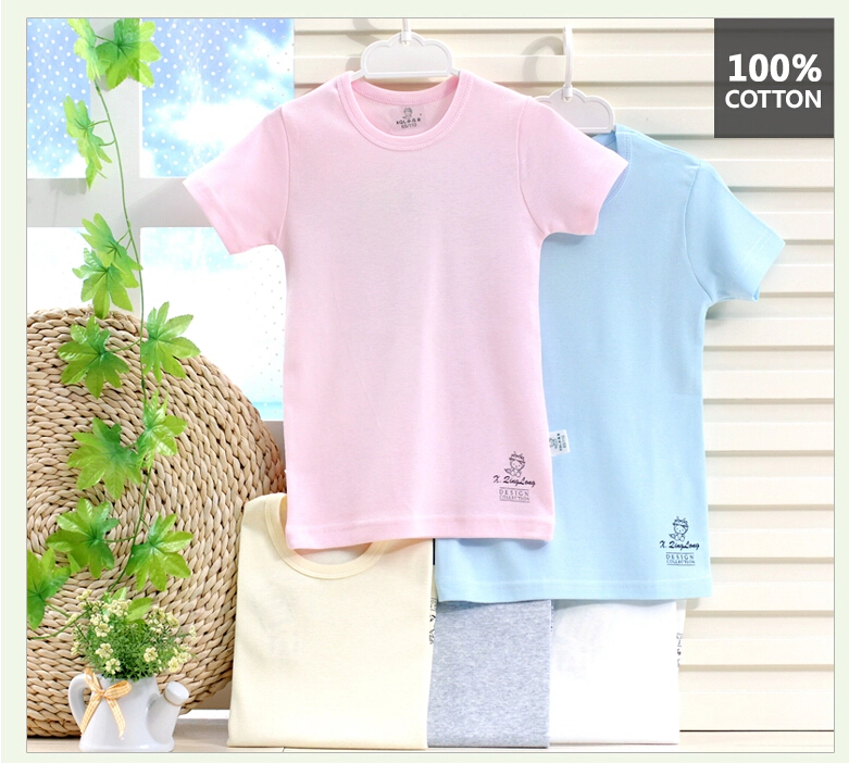 New Arrival High Quality Summer Children Shirt Active Tee Shirt Boys Solid Color Kids Tshirt Boys Tops Cotton Tees(China (Mainland))