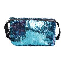 Novo Estilo de Moda Reversível Lantejoula Glitter Cintura Bloco de Fanny Cinto Saco Bum Cintura Packs Bolsa de Lantejoulas Sólida(China)