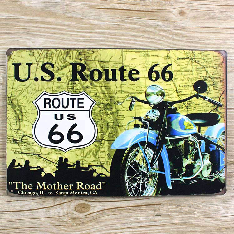 LLBT0052 motorcycle vintage home decor metal Tin signs for bar vintage decorative plates metal poster 20x30cm