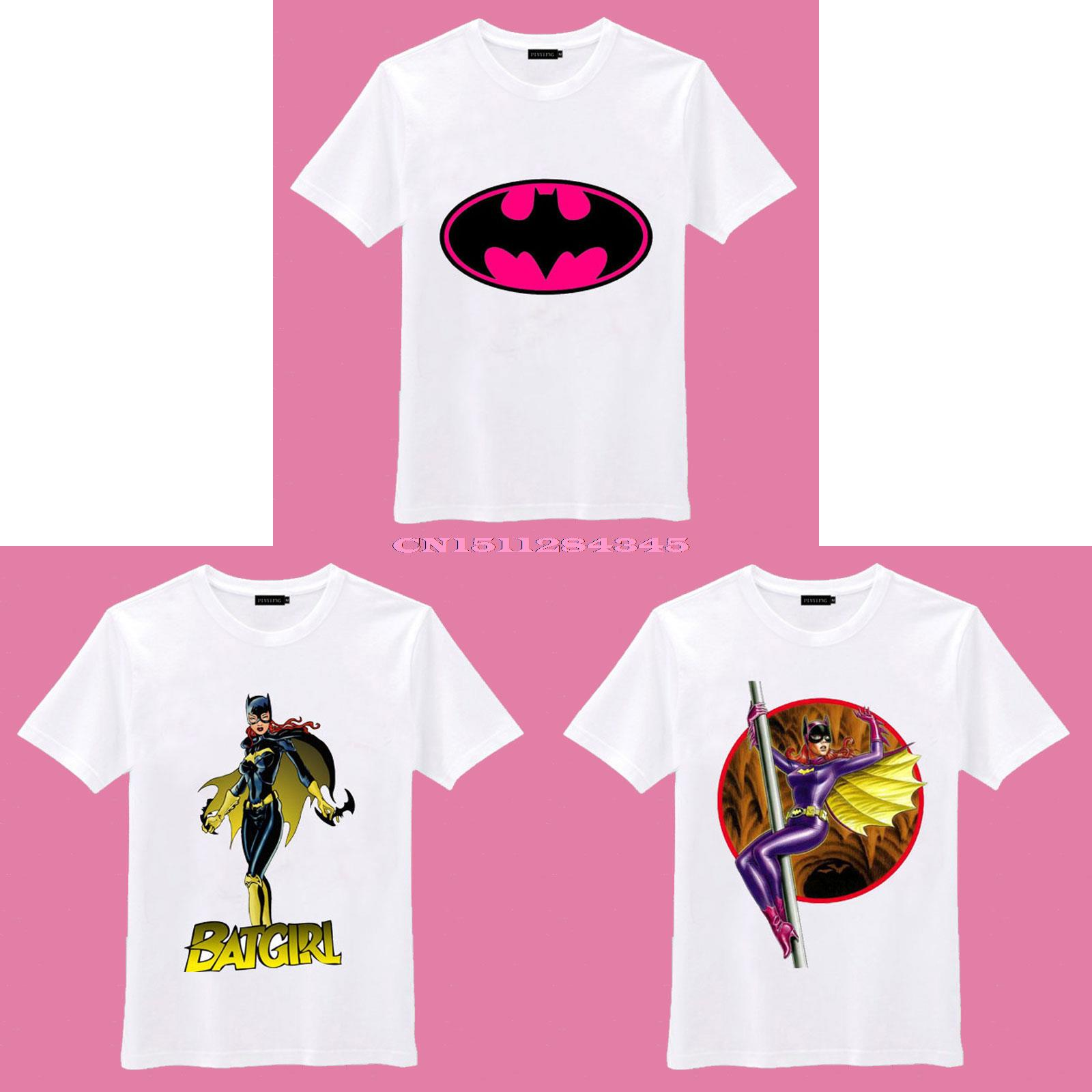 2015 New Batgirl pink Batman Logo children girls boys O Neck Cotton Camiseta Camisetas Unisex T Shirt(China (Mainland))