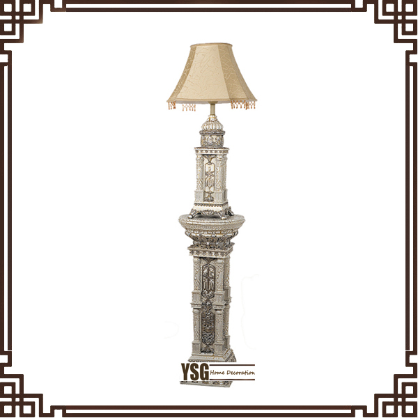 antique style resin floor lamp for bedroom floor standing