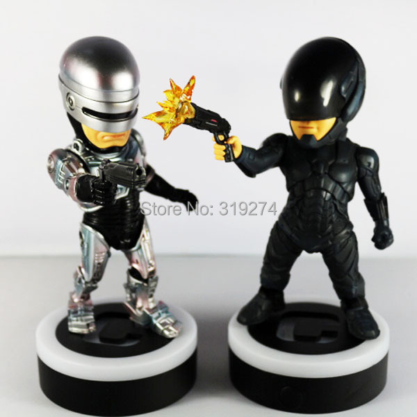 Wholesale/Retail Free Shipping 2pcs Set Movie 2014 Machinery COP 1987 + COP 2014 LED Light-Up 6.3 Action Figure New Loose<br><br>Aliexpress