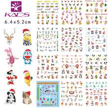 CZ049-060 nail art Decoration new beauty christmas nail sticker Styling tools Nail Wraps Decals water transfer nail sticker