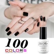 YaoShun Black Neutral colors gel nail polish french nail tips 8ml long-lasting soak-off led/uv gel nail polish(China (Mainland))