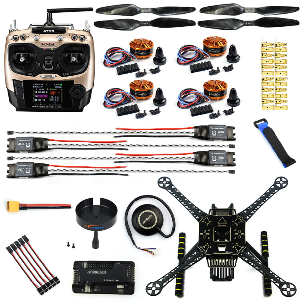 Diy fpv drone kit with at s tx rx axis aerial