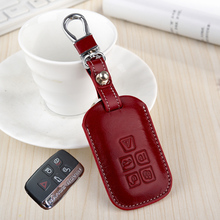 cowhide leather key cover for LandRover range rover discovery 4 3 freelander 2 Evoque key case holder shell keychain accessories