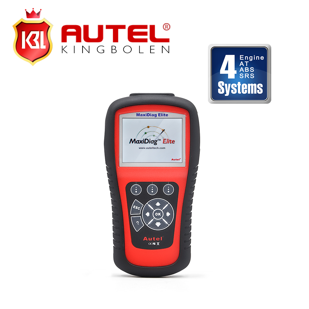100% Original Autel Maxidiag Elite MD802 4 System 4 IN 1 Code Scanner MD 802 (MD701+MD702+MD703+MD704) + DS Model(China (Mainland))