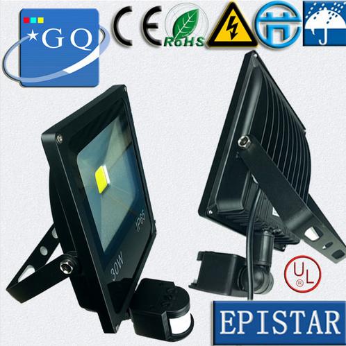 10W 20w 30w 50w 70w 100w led flood light new type 85~265V black shell PIR Motion sensor Induction Sense lamp(China (Mainland))