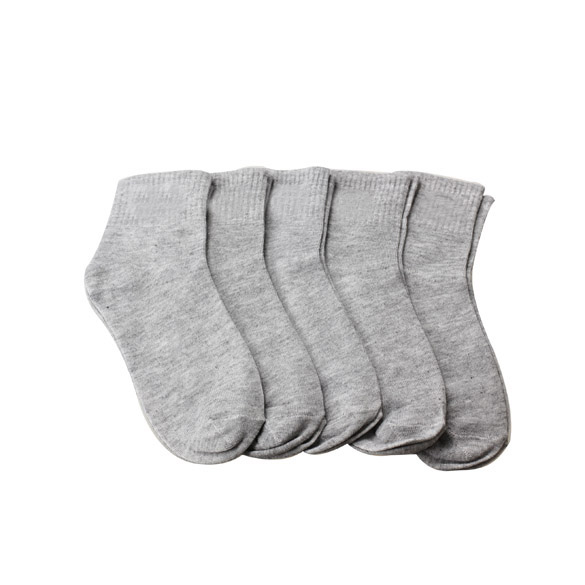 High Quality 5 Pair Men Ankle Socks Men's Cotton Low Cut Athletic Socks One Size Grey(China (Mainland))