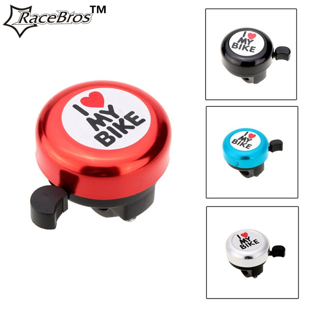 RaceBros Bicycle Bell I Love My Bike Printed Clear Sound Cute Bike Horn Alarm Warning Bell Ring Bicycle Accessory cycling safty(China (Mainland))
