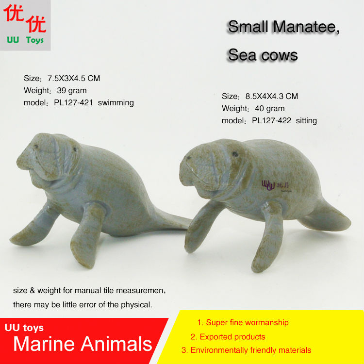 Hot toys Baby Manatee, Sea Cows Simulation model Marine Animals Sea Animal kids gift educational props(China (Mainland))