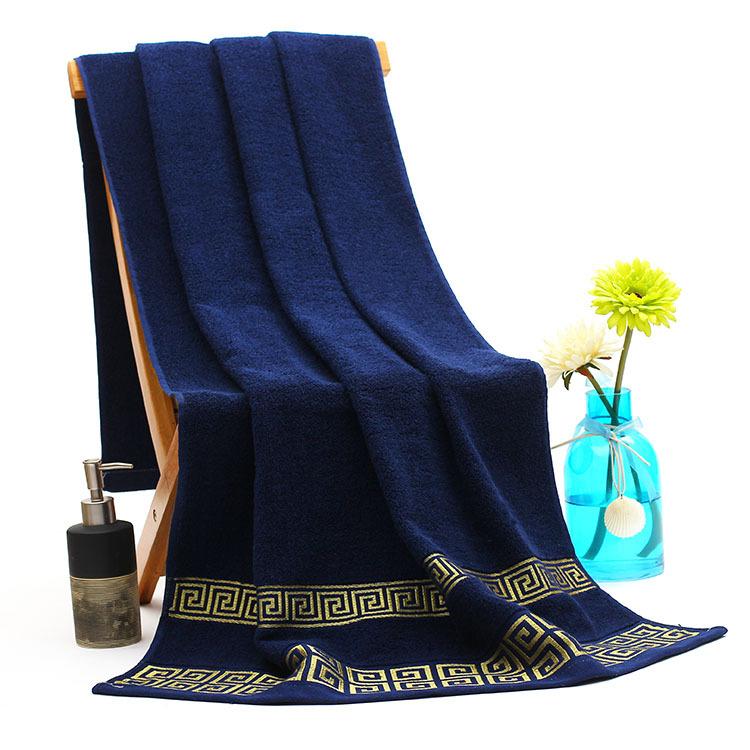 70 140cm High Quality Cotton Bath Towels For Adults Jacquard Decorative Elegant Beach Bath