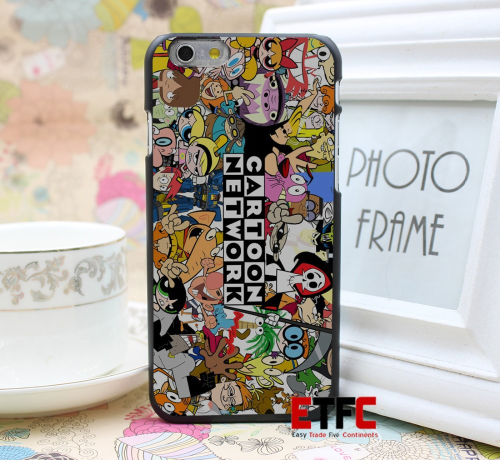 cartoon network attempt Design for iPhone 6 6 Plus Hard Black Skin Case Cover(China (Mainland))
