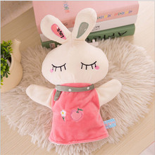 Hot Selling 25cm Finger Puppets Children Cute Plush Cartoon Animals Hand Puppet Learning Toys For Kid Gift For Child Birthday(China (Mainland))
