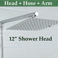 Wholesale And Retail Promotion12 Shower Head Shower Arm Shower Hose